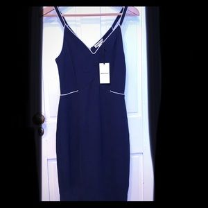 Rare NWT Elegant Navy Blue Whistles Midi Dress